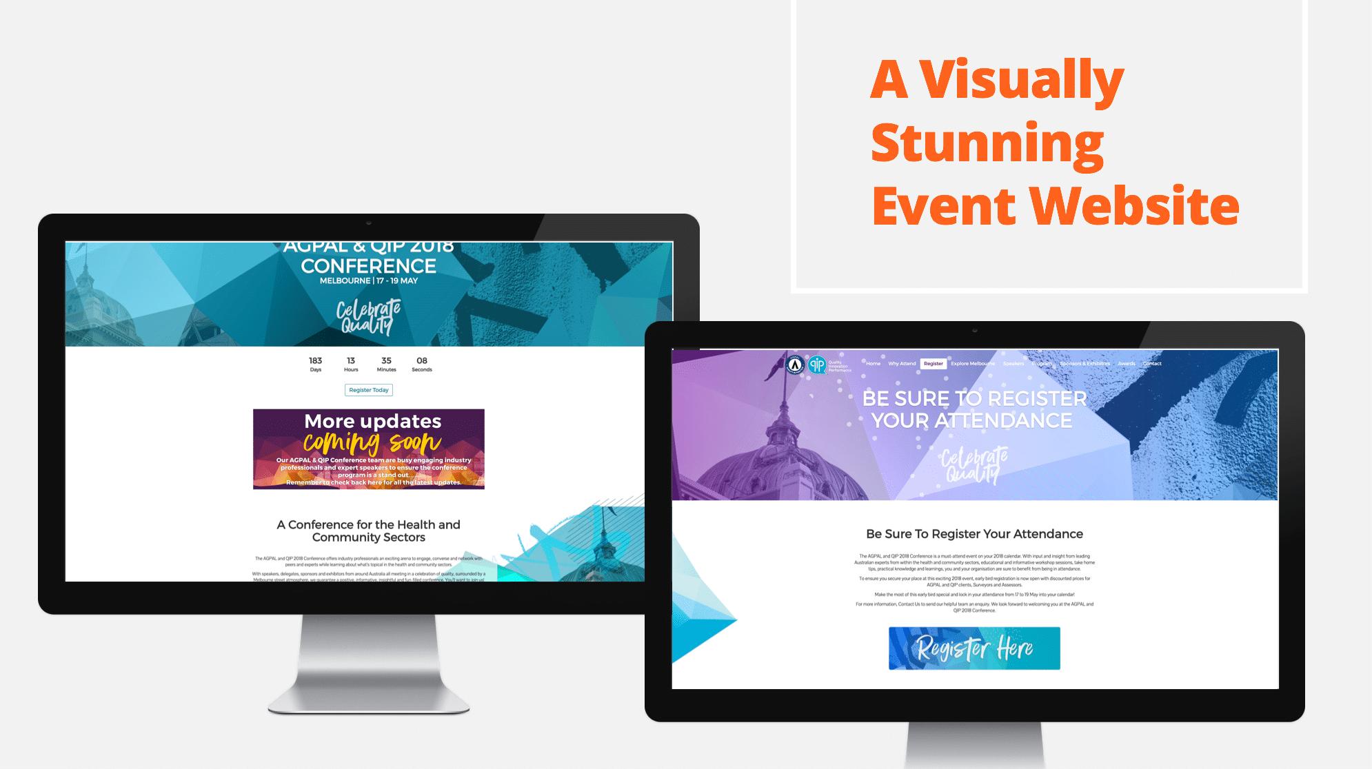Conference website design GP accreditation